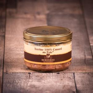 Terrine 100% canard au foie gras 200g
