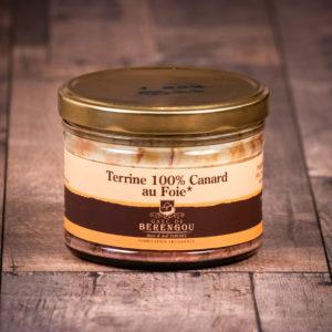 Terrine 100% canard au foie gras 400g